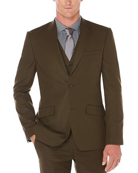 Amazon.com: Perry Ellis de los hombres Slim Fit, tela ...