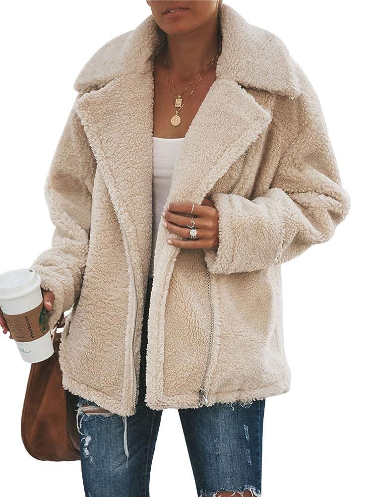 Tomwell Donna Giacca Elegante Felpa con Cappuccio Maglione Cappotto Inverno Caldo Lana Cerniera Cappotto Outwear Pelliccia Inverno Manica Lunga Cappotto Parka