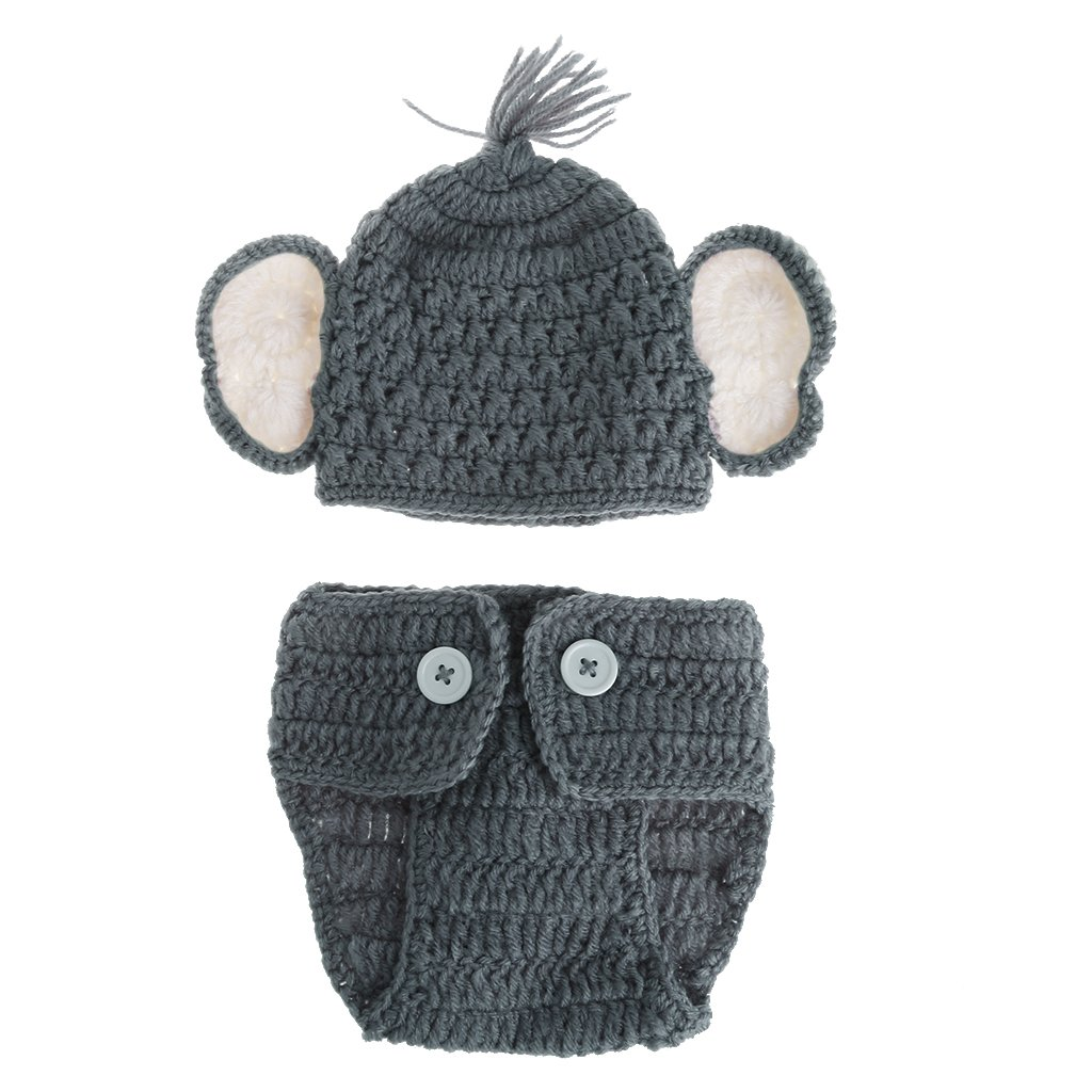 cici store Newborn Baby Photo Props Crochet Knitted Hat And Pants Set Photography Props Costume Outfits