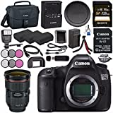 Canon EOS 5DS-R 5DSR DSLR Camera + Canon EF 24-70mm f/2.8L II USM Lens 5175B002 + LPE-6 Lithium Ion Battery + External Rapid Charger + Sony 128GB SDXC Card Bundle