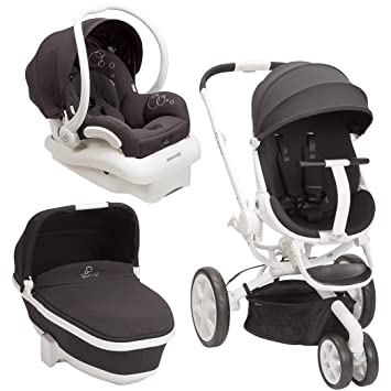 Amazon.com : Quinny Moodd Stroller Travel System, Black Irony with ...