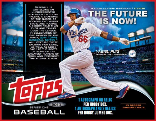 2014 Topps Baseball Cards Series 1 Jumbo Hobby Box (10 packs/box, 50 cards/pack, 1 Relic & 2 Autographs Per Box) - Baseball Cards 2014 Box
