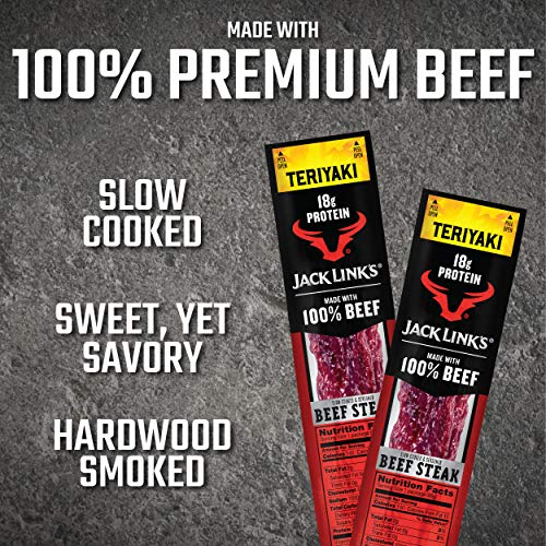 Jack Link's Premium Cuts Beef Steak, Teriyaki, 2 oz., 12 Count – Great Protein Snack with 18g of Protein and 9g of Carbs per Serving, Made with 100% Premium Beef 5