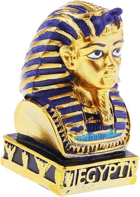 Zonfer Ancien Pharaon /Égyptien Sculpture Figurine Petite T/ête Buste en R/ésine Statue Artisanat D/écoration