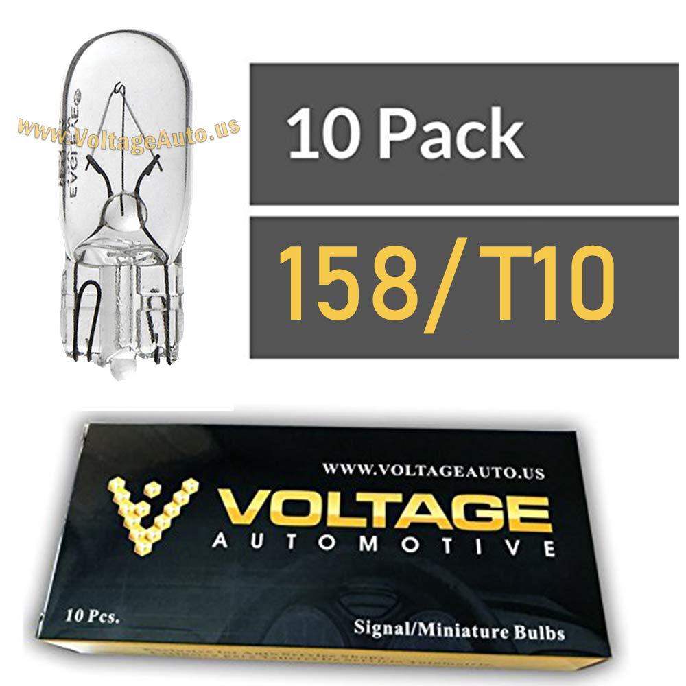 1156 Automotive Brake Light Turn Signal Side Marker Light Bulbs 10 Pack