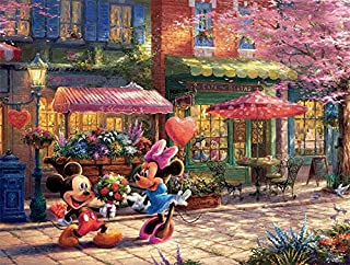 product image for Ceaco Thomas Kinkade The Disney Collection Mickey & Minnie Sweetheart Café Jigsaw Puzzle, 750 Pieces