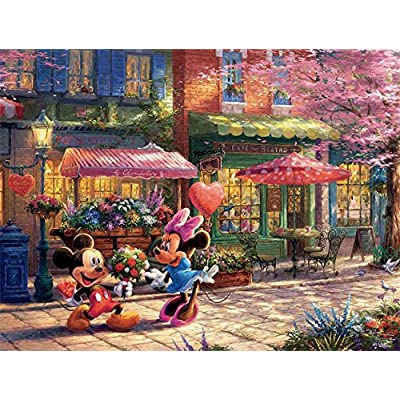 Mickey Mouse Puzzle Ceaco Disney Topolino E Minnie Sweetheart Caf 750pc 2903 16