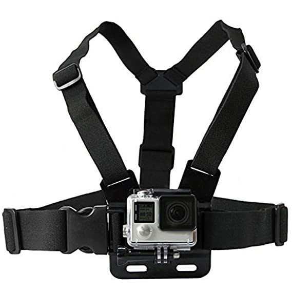 QuikProf GoPro Adjustable Chest Strap Mount Body Belt Harness for Gopro Hero, SJCAM, Yi  amp; Other Action Cameras