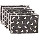 country kitchen table placemats VHC Brands Primitive Tabletop & Kitchen - Black Primitive Star Black Placemat Set of 6