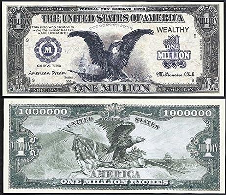 Amazon Com Black Eagle American Dream Million Dollar Bill Lot Of 100 Bills Office Products