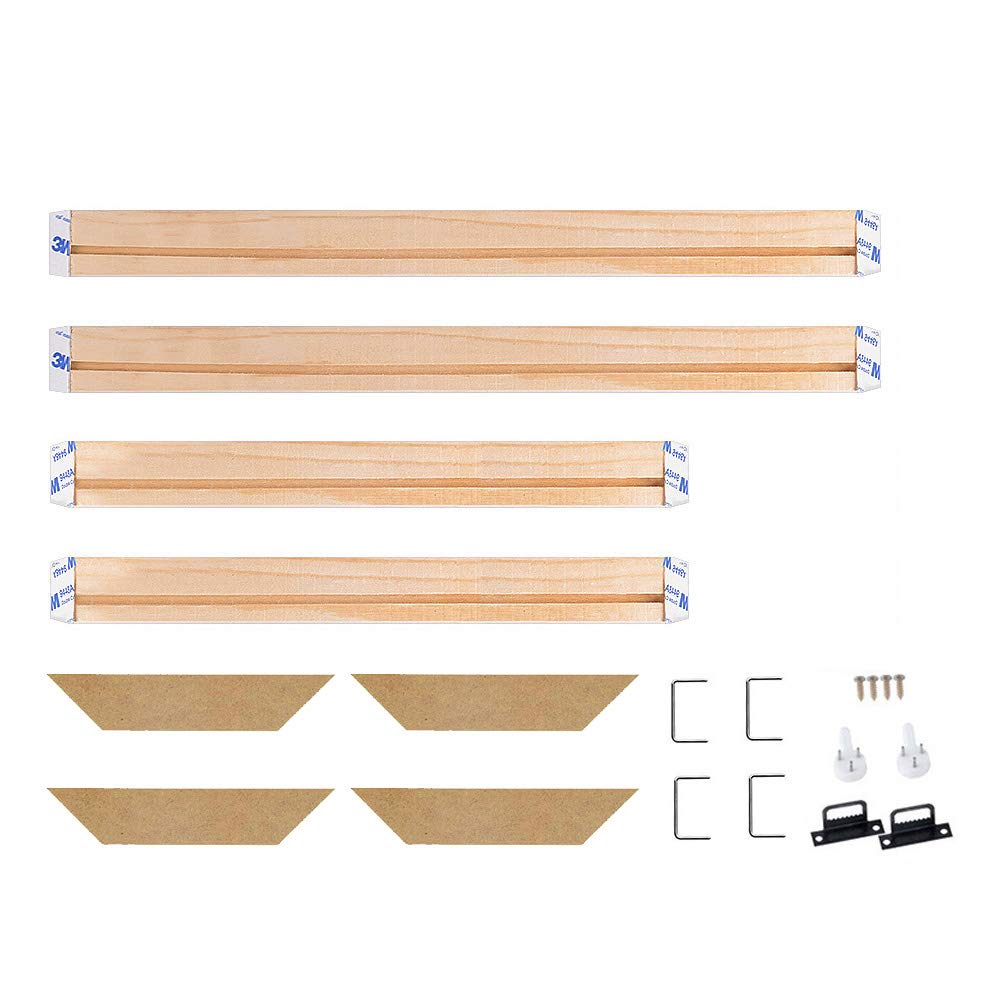 WITUSE Wood Stretcher Bars Painting Canvas Wooden Frame for Gallery Wrap Oil Painting,Prints Stretcher Bars,Canvas Mounting Strips DIY,34x34