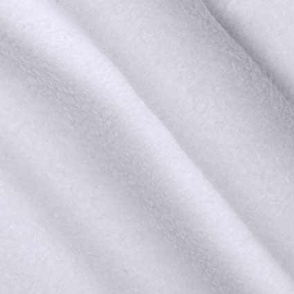 WhiteAnti Polar Fleece Fabric Material Anti Pill Blankets Soft Warm Pale