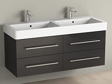 Cabine Bagno Complete : Bagno aqua flex double sink bathroom furniture 120 cm with black