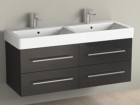 Puntotre mobile bagno moderno con lavabo soprapiano giglio mensole