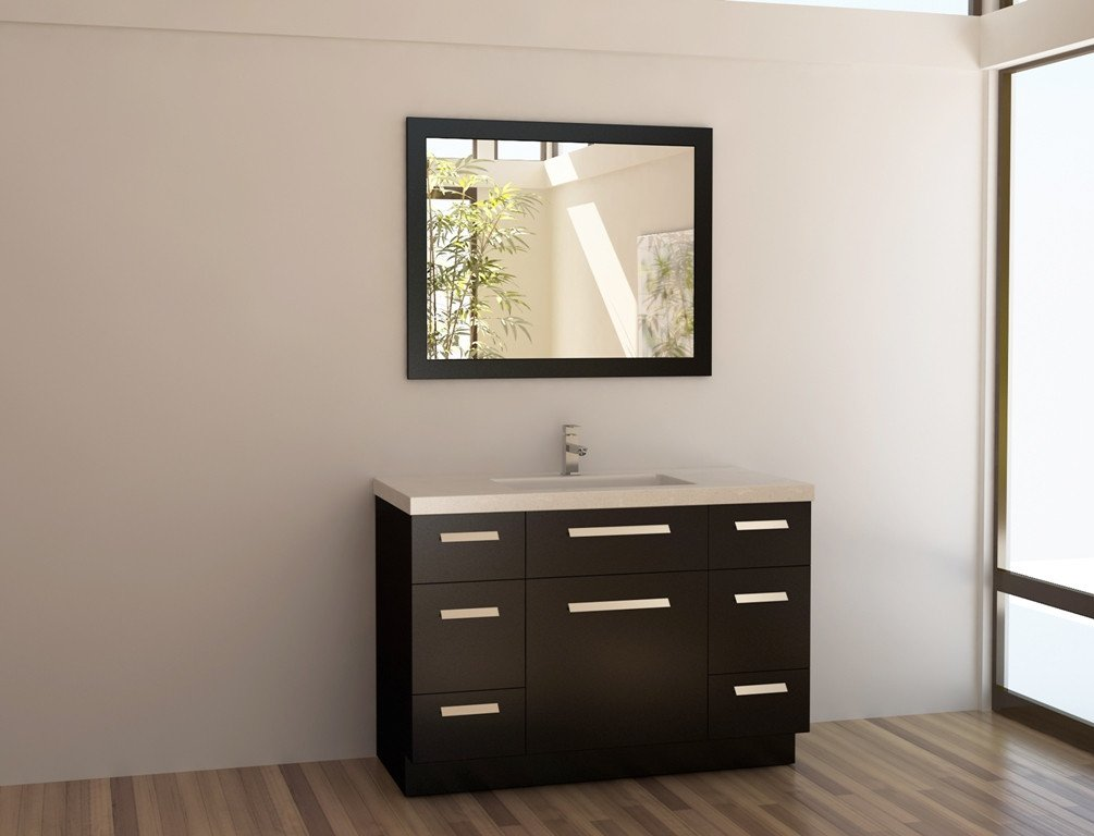 Design Element - J48-DS - Moscony 48'' Single Vanity Espresso by Design Element (Image #1)