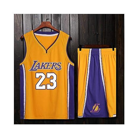 ZWXYA Lebron James 23 Fan Men Jersey Basketball NBA Los Angeles Lakers,James ,XL