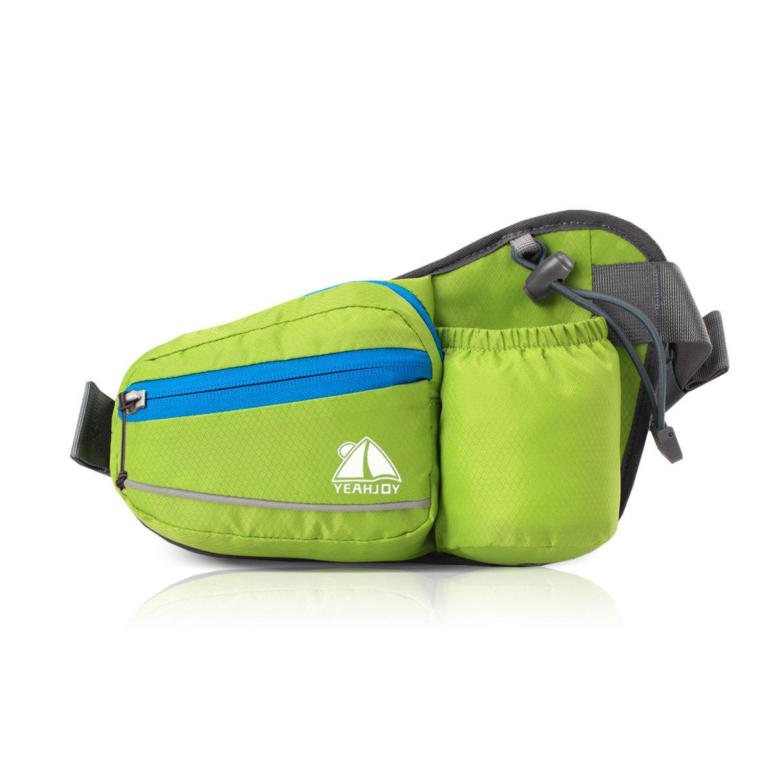 YEAHJOYウエストファニーパック、ボトルホルダー付き撥水バームバッグ犬用ウォーキングウエストバッグ(男性/女性用)(グリーン)   B01MXQC5Q9