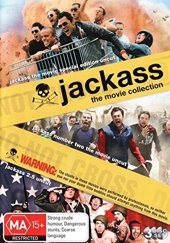 Jackass Movie | Uncut | / Jackass 2 | Uncut | / Jackass 2.5 | Uncut | 3 Discs | NON-USA Format | PAL | Region 4 Import - Australia ()