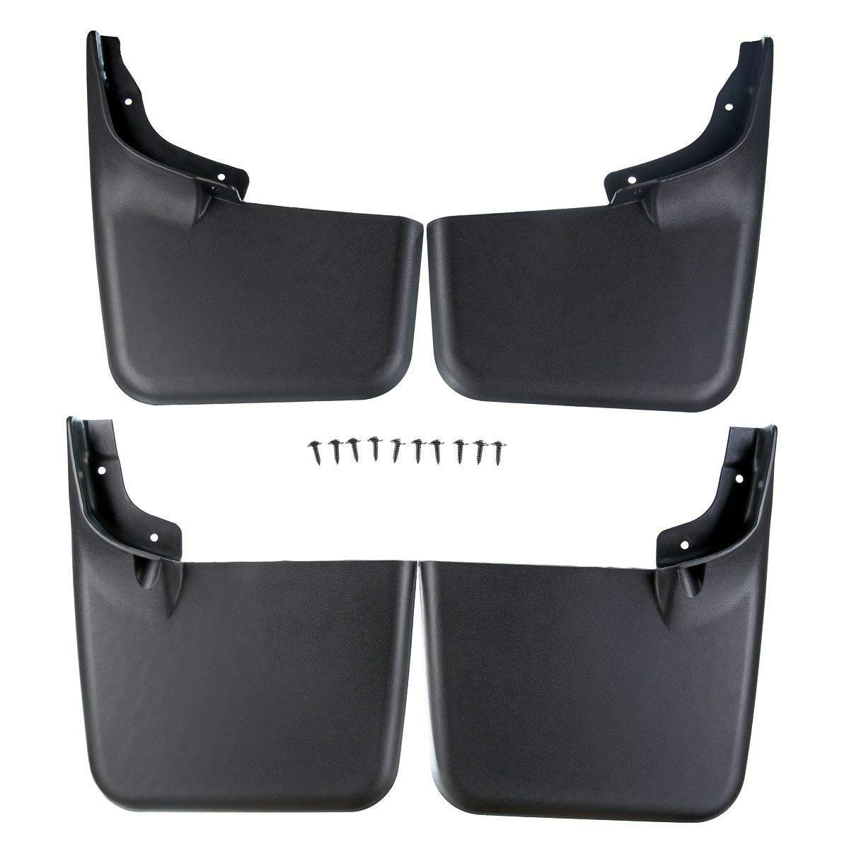 A-Premium Splash Guards Mud Flaps Mudflaps for Ford F-150 F150 2004-2014 With Factory Fender Flares Front and Rear 4-PC Set