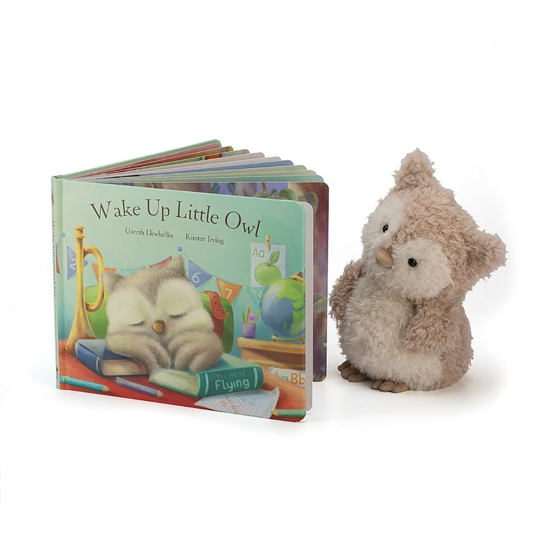 Jellycat Wake Up Little Owl Board Book and Little Owl Toy by Jellycat (Image #1)