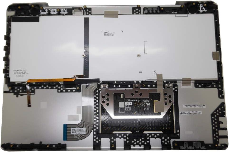Laptop Palmrest/&Keyboard for Sony VAIO SVS15 Series 9Z.N6CLF.401 9Z.N6CBF.71F Slovenian SL Silver Backlit Touchpad New