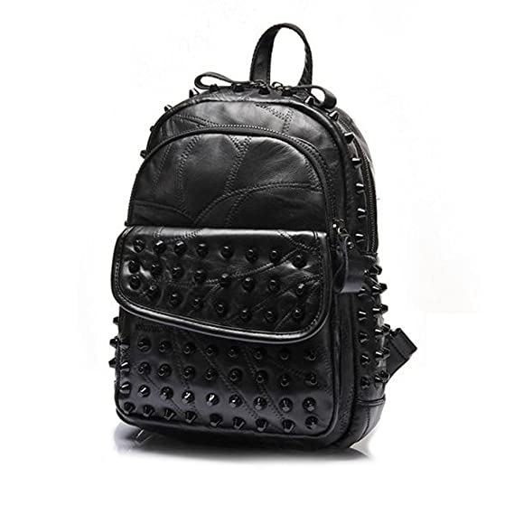 Amazon.com: Black Studded Backpack Goth Style: