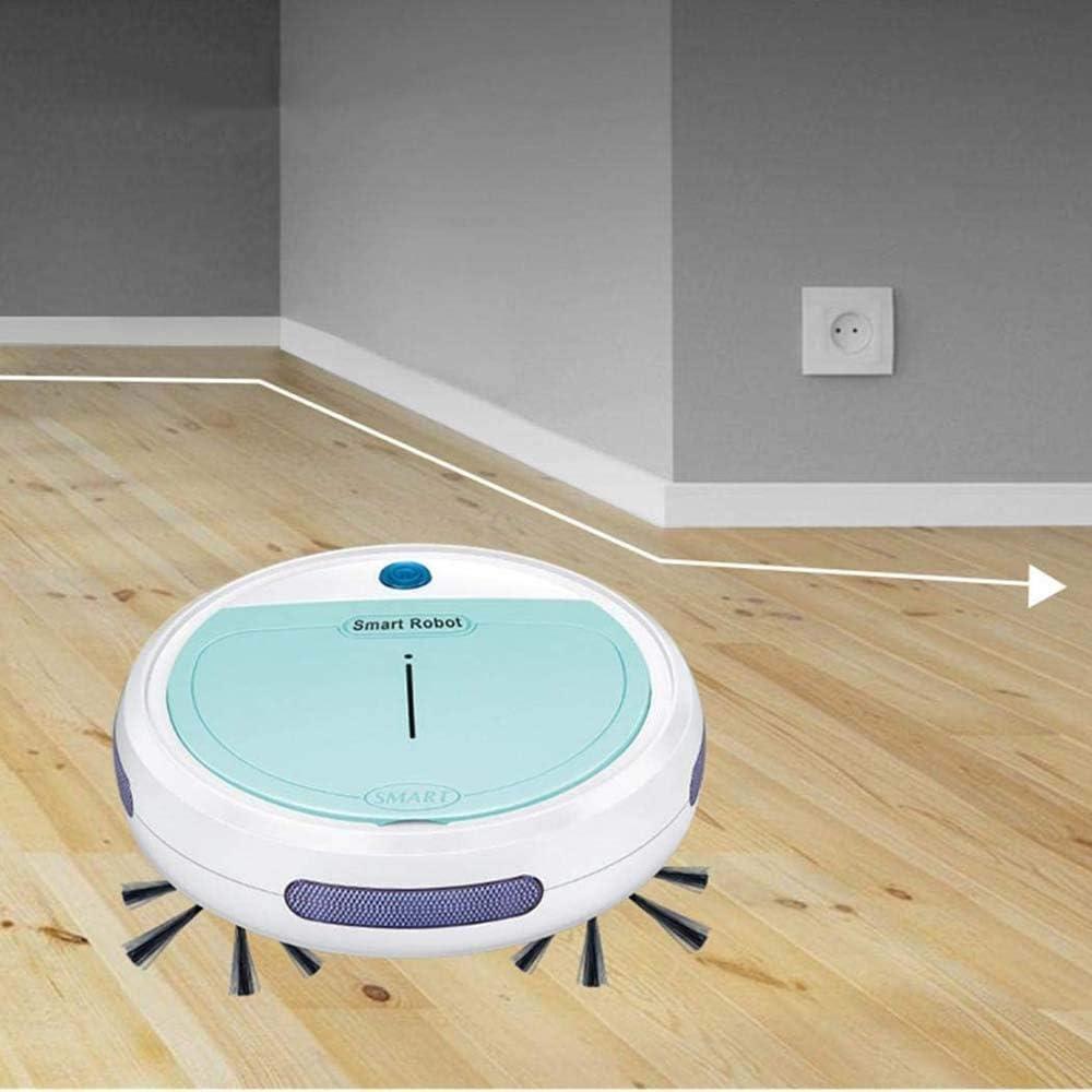 Dirt Floor automatique Robot Balayer poussière cheveux Sweeper Mopping Aspirateur humide sec Aspirateurs, Violet ggsm (Color : Purple) Purple