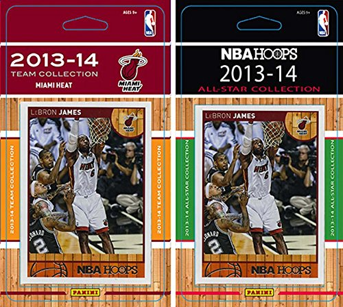 Dwayne Hoops Wade - NBA Miami Heat Licensed 2013-14 Hoops Team Set Plus 2013-24 Hoops All Star Card Set