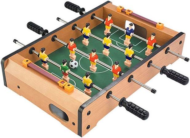 ZHJIUXING ZQ Portátil Futbolín Juego de Mesa de Madera Baby Foot Infantil para Competiciones Individuales o Juegos de Grupo, 51 * 31 * 9.6 cm Regalo para niños: Amazon.es: Deportes y aire libre