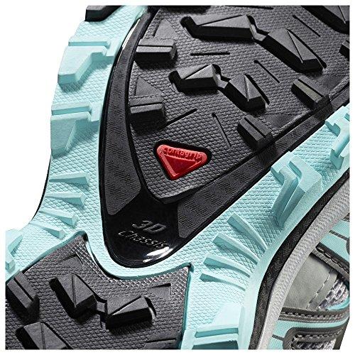 Salomon Kvinners Xa Pro 3d Sko Og Reserve Quicklace Bunt Steinbrudd / Perle Blå / Aruba Blue