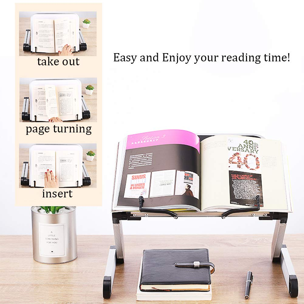Page Paper Clips Reading Desk Portable Sturdy Lightweight Reading ...