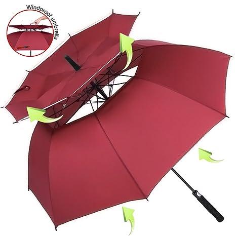 ZOMAKE 157cm Automatische Öffnen Golf Schirme Extra große Übergroß Doppelt Überdachung Belüftet Winddicht Wasserdichte Stock