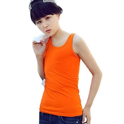 BaronHong Tomboy Chest Binder Chaleco de algodón de color sólido Verano Tank Top