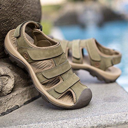 Hombres Velcro Green para Casuales Sandalias fnqXExw8tU