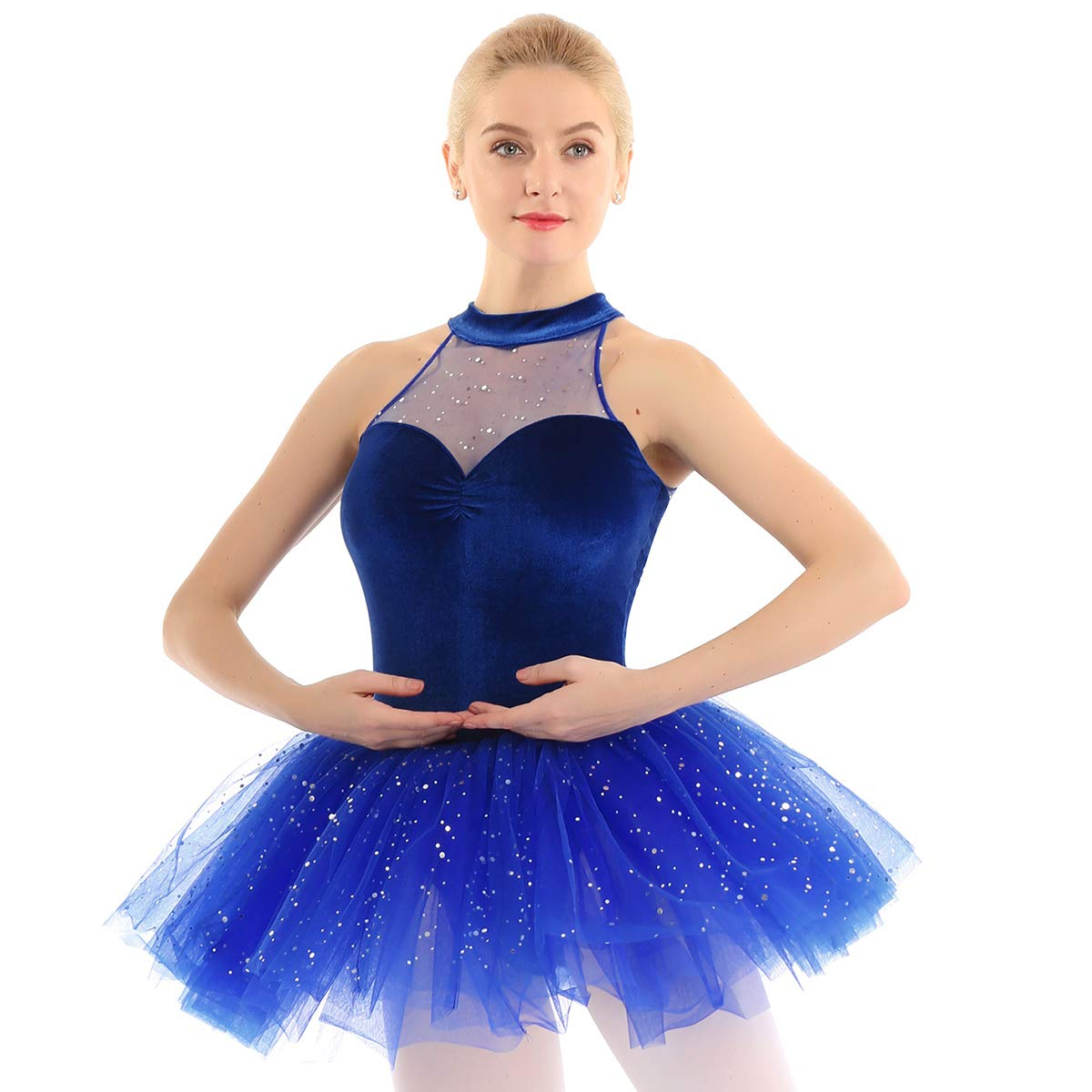 Alvivi Vestido Ballet Tutú Mujer con Lentejuelas Maillots de ...