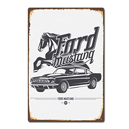 Hunnry Ford Mustang Póster De Pared Metal Vintage Placa ...
