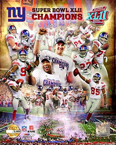 New York Giants Eli Manning And Team Collage Super Bowl XLII Limited Edition 8x10 Photo Picture
