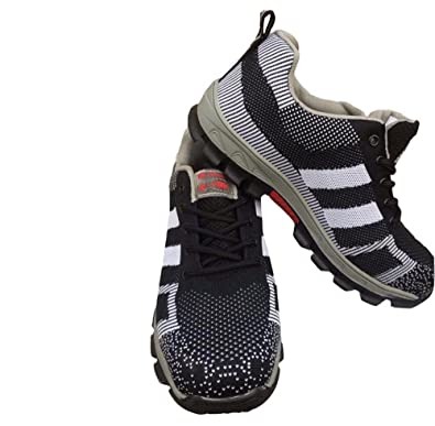 03a83f6a214 Mens Safety Work Shoes Steel Toe Cap Trainers in Black