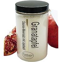 Lashuma Sauna Salz Granatapfel mit Jojobaöl, Körperpeeling 400 g
