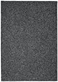Garland Rug Southpointe Shag Area Rug, 5-Feet by 7-Feet, Black/White/Gray
