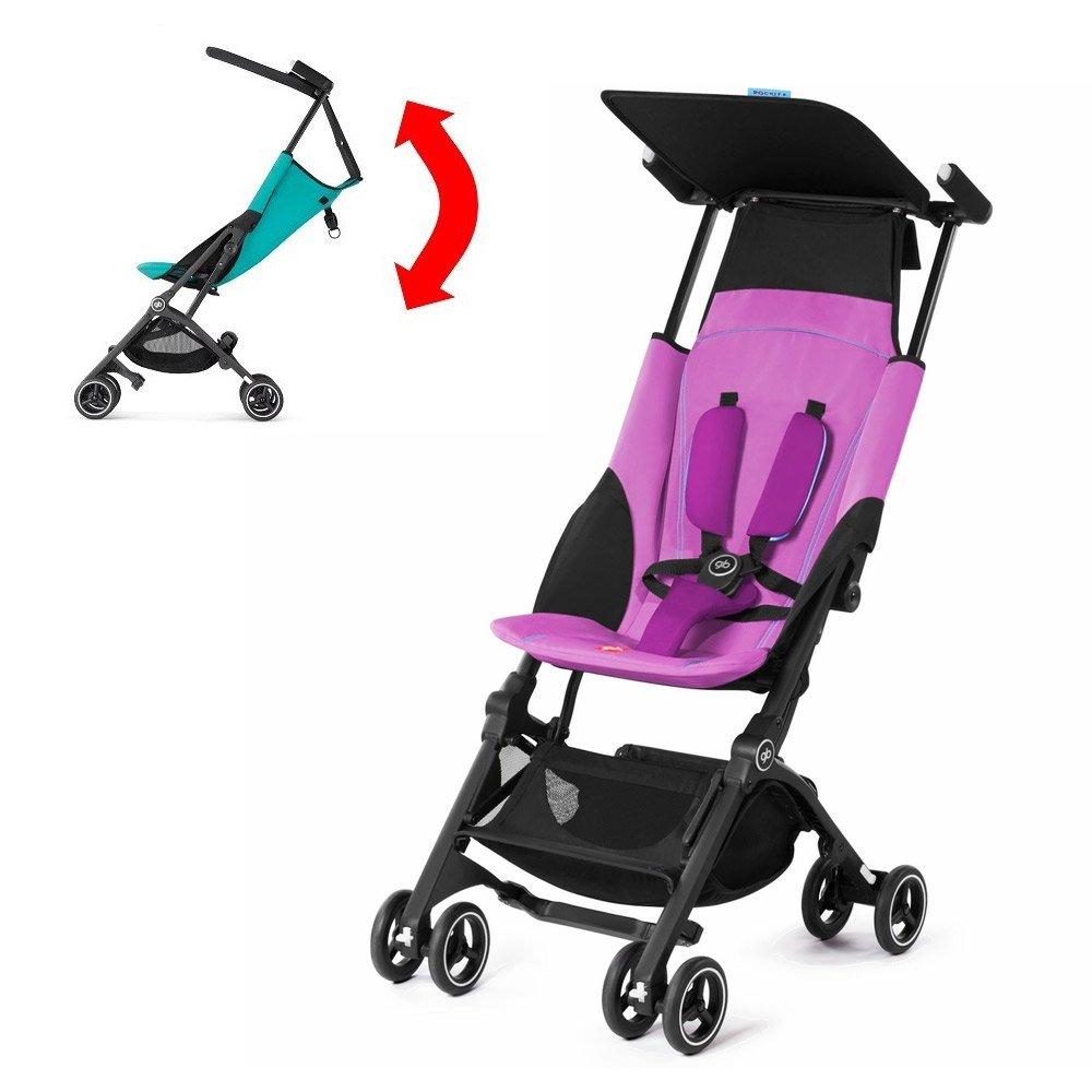 GB Pockit PLUS Stroller 2017 / multi-adjustable backrest / Light Traveler / from 6 Mo.-4Y. Posh Pink