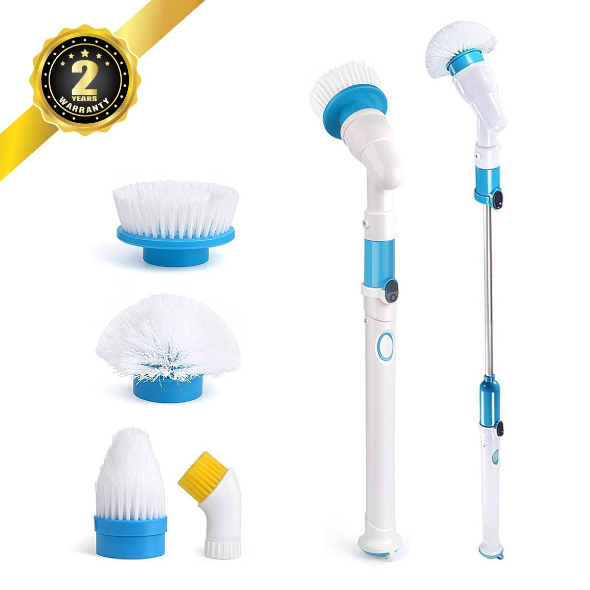 Electric Spin Scrubber ELEPOWSTAR Automatic Cleaning Brushes - Automatic bathroom scrubber