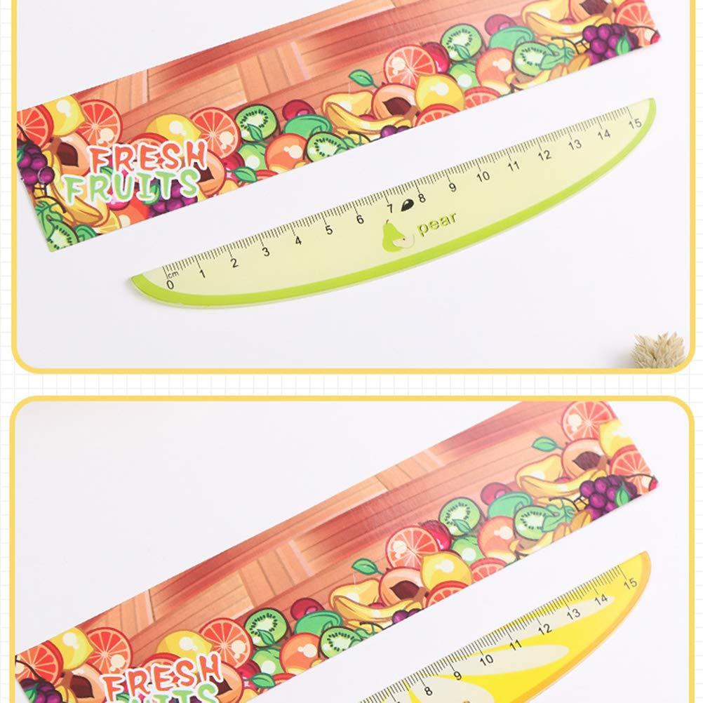 TOYMYTOY 6pcs 15cm plastica carino modello di frutta righelli creativi studenti della scuola cancelleria righelli di misurazione