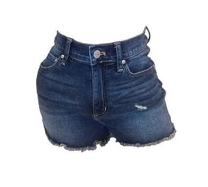 df3d3bcdf1196 Victoria's Secret Pink High-Waist Dark Washed Demin Shorts at Amazon ...