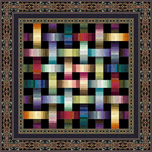 Jinny Fabric Quilt Beyer (Jinny Beyer Studio Woven Ribbons Quilt Kit Fabric and Pattern)
