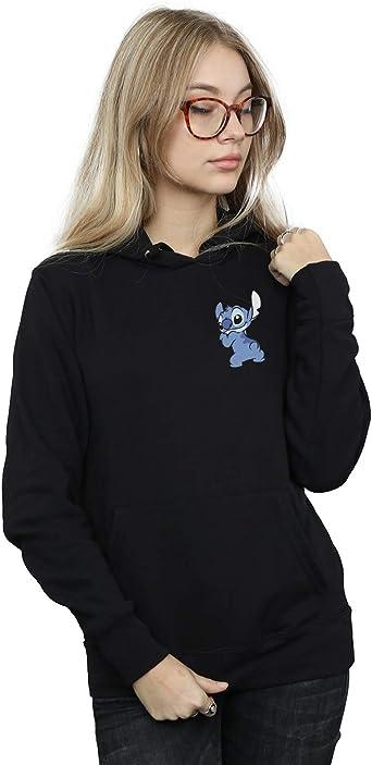 Disney Girls Lilo /& Stitch Stitch Backside Breast Print Hoodie