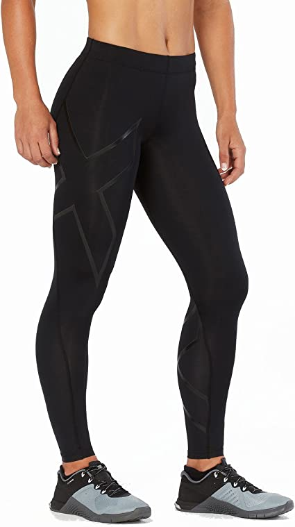 2XU Run Mid-Rise Compression Tights Wa5312b Collants Femme