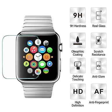 Apple reloj templado vidrio Protector de pantalla, unpara 9H Dureza [3d cobertura completa]