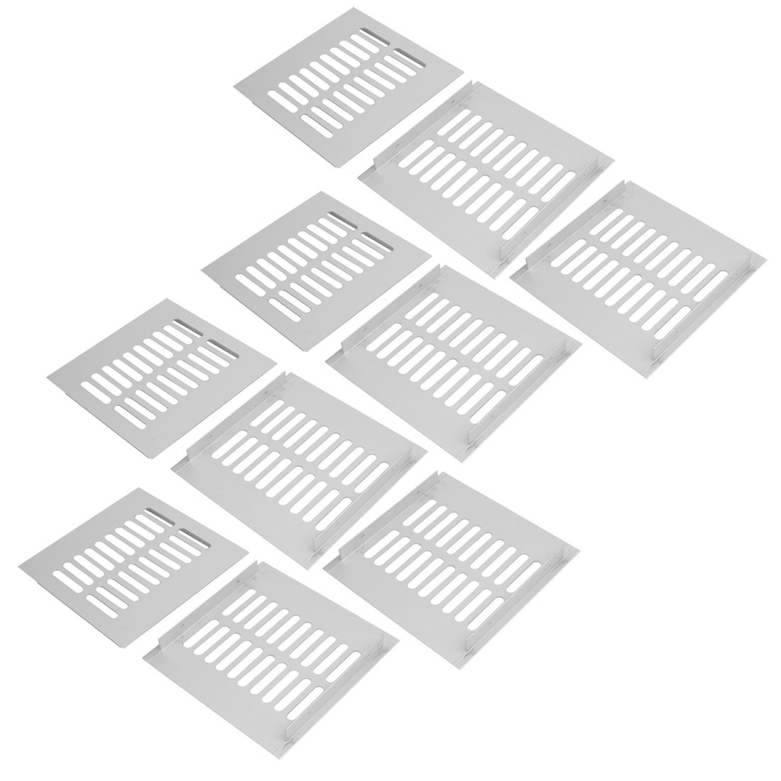 uxcell 10pcs 150mmx150mm Aluminum Alloy Air Vent Louvered Grill Cover Ventilation Grille