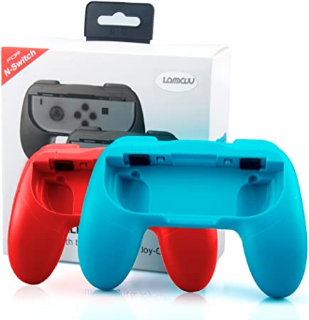 Lammcou Mandos para Switch Empuñaduras Controlador de Joy-con para Mario Kart,Super Mario Odyssey,Just Dance 2018,FIFA 18 Handle Kits para NS Switch Juego,Rojo & Azul(2-Pack,Red and Blue): Amazon.es: Electrónica